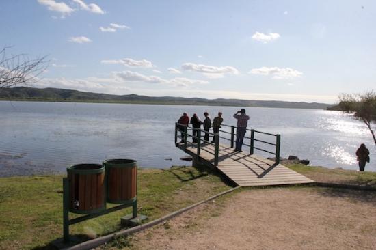 Las Cabras, شيلي: Vista del Lago Rapel desde la Plaza Gruta de Lourrdes