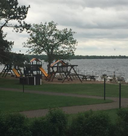 Grand View Lodge: One of several playgrounds, this one next to the lake