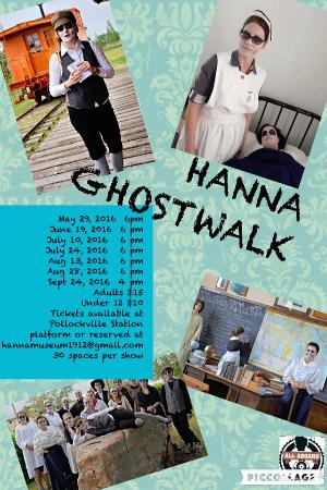 Come see the Hanna Ghostwalk at the Hanna Musseum