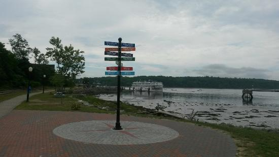 Center of the Known Universe.  Bucksport's waterfront.