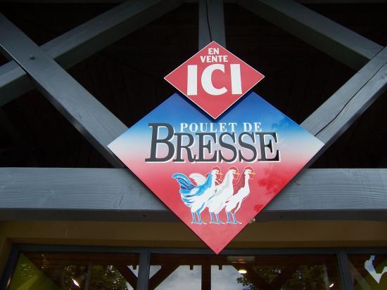 Dommartin-les-Cuiseaux, Francia: Boutique de l'aire du poulet de Bresse