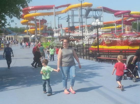 Indiana Beach Amut Waterpark Boardwalk May 21 2016