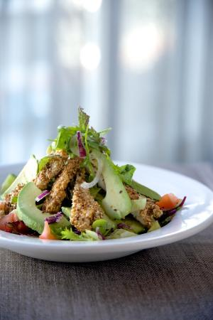Sesame Chicken and Avo Salad