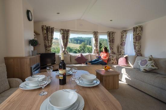 Corriefodly Holiday Park: Glen Clova 2 bedroom caravan holiday home to hire
