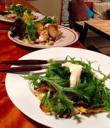 NZ Surf And Kite: Fresh snapper frittata garden salad with wasabi mayonnaise