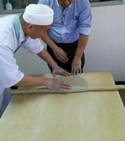 Tendo, Japón: そば打ち体験をした