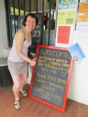 Wilderness, Sydafrika: Officially voted the best cheesecake in South Africa!