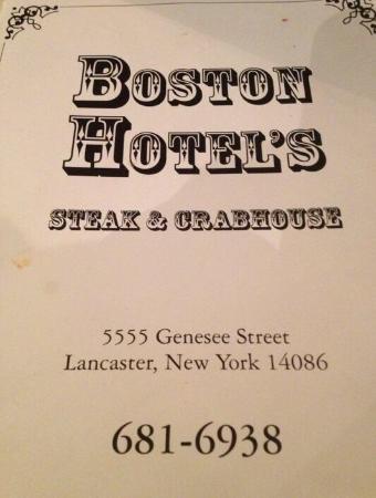 Boston Hotel Restaurant Lancaster Ny