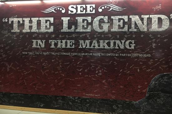 Ironwood, MI: Sign our Tour Visitor Wall and leave your mark at our factory.