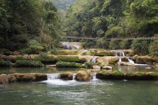 Libo County, จีน: 68級瀑布一部份~~