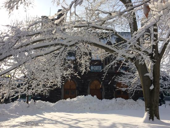 McCarter Theatre Center: A snowy day at the theater.