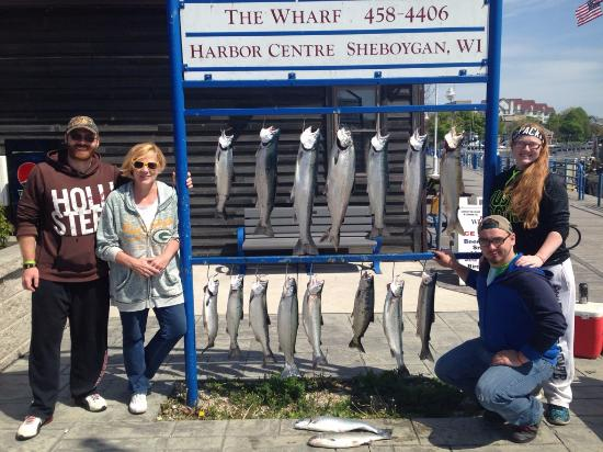 Sea Dog Sportfishing Charters of Sheboygan: Caught more fish than they had hooks!! GREAT DAY!