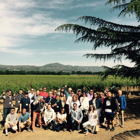 Napa Valley Wine Country Tours: The whole group at Andretti Winery