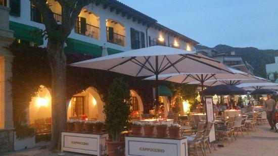 evening terrace at sis pins hotel