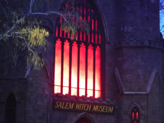 Salem Witch Museum: It's spooky at night!