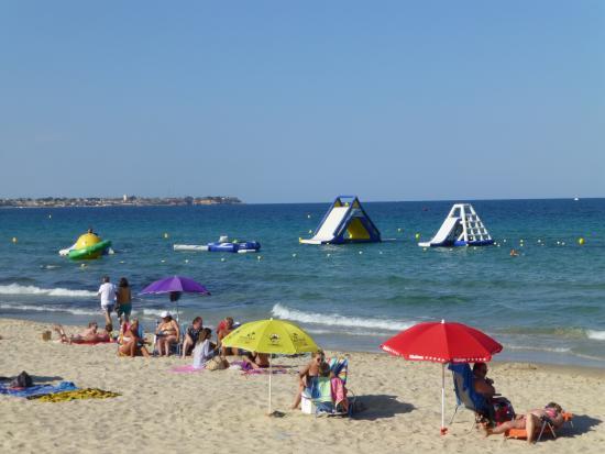 plenty of activities on the beach during peak season