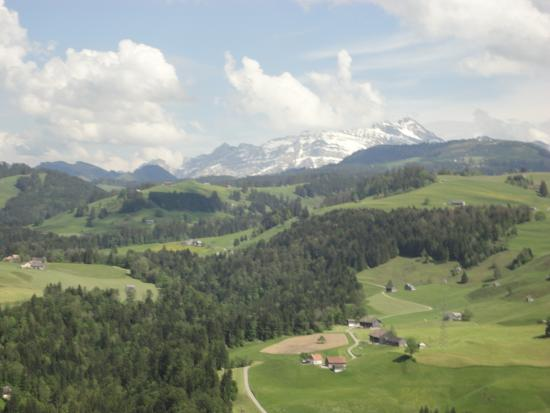 Hemberg, Suiza: Aussicht von der Terasse