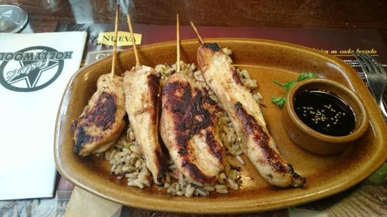 Teriyaki Chicken Brochete Picture Of Foster S Hollywood Castellon De La Plana Tripadvisor