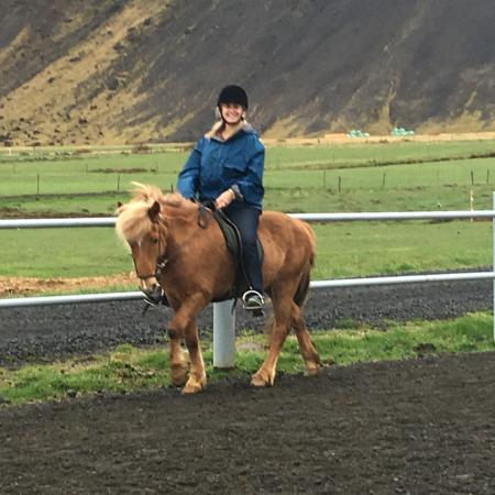 Selfoss, Islandia: Riding out in Solhestar. Perfect for exploring. Great ponies, healthy attitude.