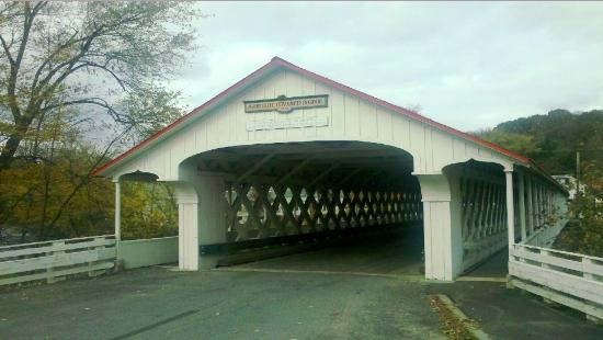 Ashuelot, NH : Well preserved covered bridge.