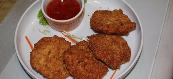 Samui Pier Resort: Prawn Cakes and Sweet Chilli Sauce