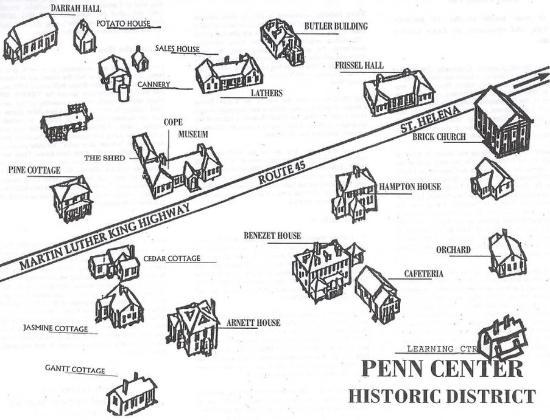 Quality Inn St. Helena : Penn Center Map