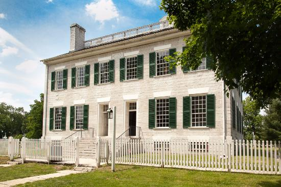 Shaker Village of Pleasant Hill - The Inn: The Centre Family Dwelling - Note men's and women's entrances are separate.