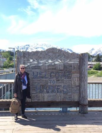 Arriving at the dock in Haines after riding the Fast Ferry from Skagway