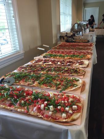 Cary, NC: Pizza buffet for Wedding at Rivers Ridge Golf Club Raleigh 5/21/2016