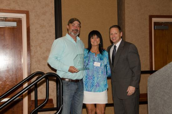 Cary, NC: receiving our award