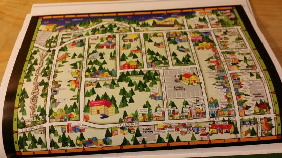 Pine Knot Village: The Village  map. ...