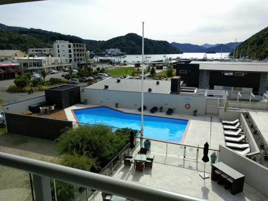 Picton Yacht Club Hotel: from room overlooking the pool and on to the harbour