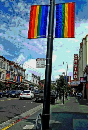 Cruisin' The Castro Walking Tours: New rainbow banners in neighborhood
