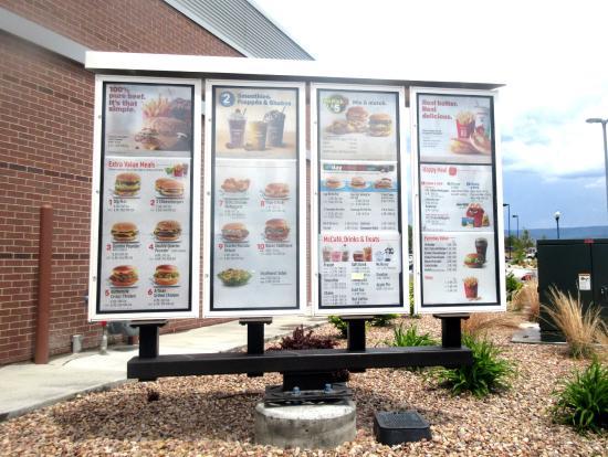 drive through order menu mcdonald s heber city utah picture of rh tripadvisor com