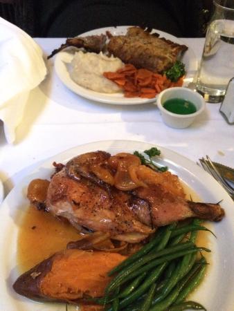 John Henry's: Apricot-Glazed Roasted Chicken, Rack of Lamb