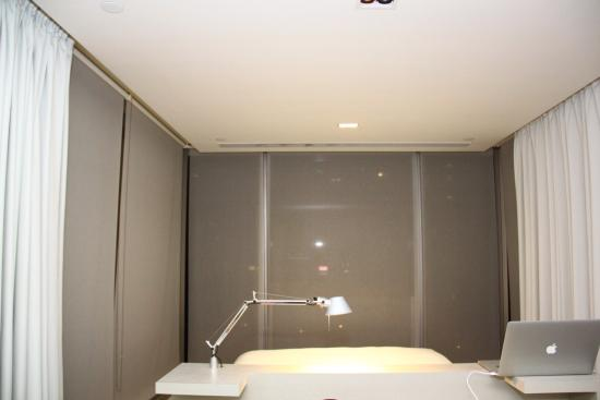 The very neat room at Twenty One Whitfield Hotel. One of the images shows you the view from that