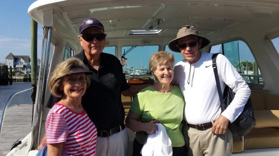 Southport, NC: A wonderful afternoon cruise with a foursome off Bald Head Island