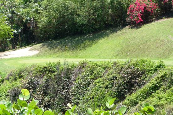 North Side, St. Thomas: Tricky par 3 right by the ocean
