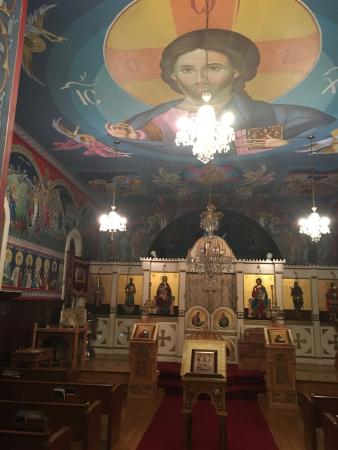 Saint Sava's Serbian Orthodox Church: The interior of the church