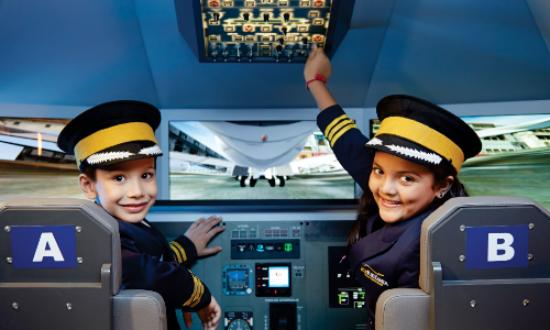 ‪‪Noida‬, الهند: Become a Pilot at KidZania Delhi NCR!‬