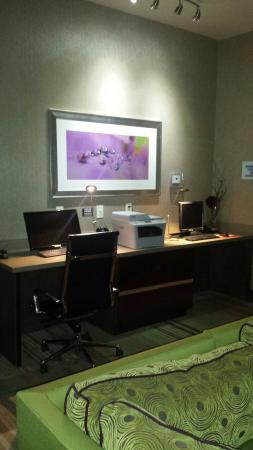 Holiday Inn Express Frisco : King room w/ digital cable, fridge, & microwave.  24 hour game room w/ 2 big screens. Spacious f