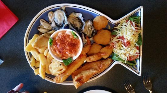 Taumarunui, Nueva Zelanda: Mahoe seafood platter