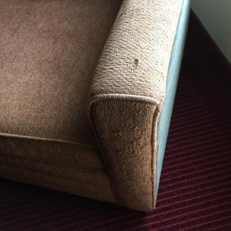 Englewood, CO: Threadbare, faded chair
