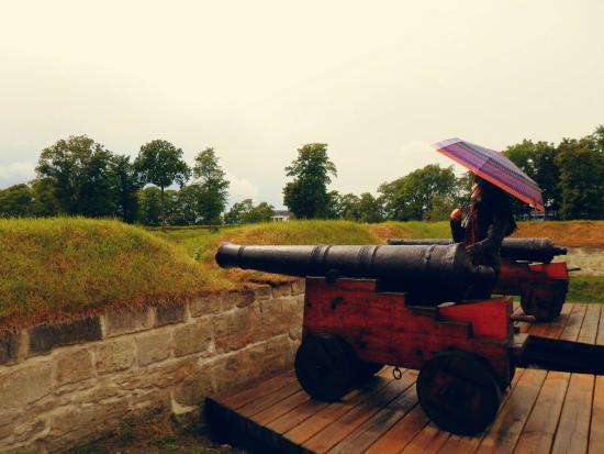 Saaremaa, إستونيا: Одна из пушек замка
