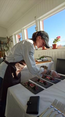 Asarna, Sweden: Kocken själv