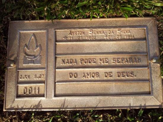 Senna's Grave Morumbi Cemetery: The king's grave