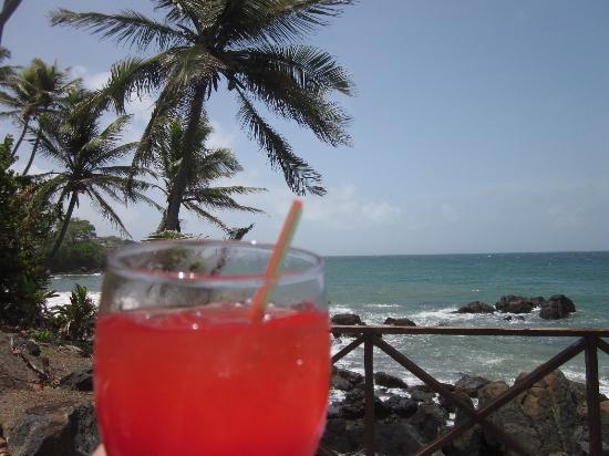 Bacolet Bay, Tobago: try the fuit punch - it is delicious
