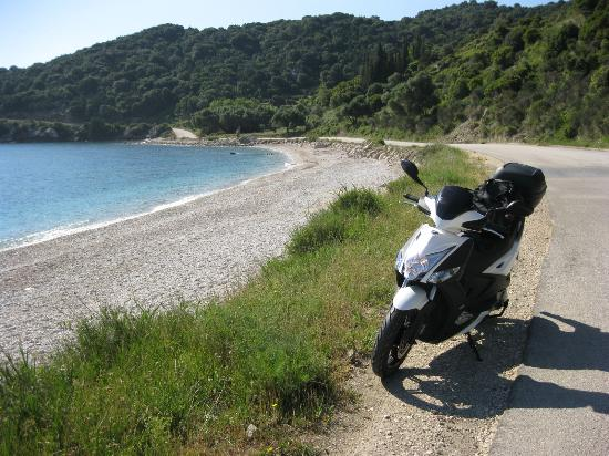 K1 Scooter & Quad Hire: The coast road between Katelios and Poros, add it to your bucket list