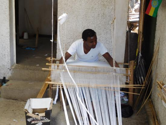 baskets being made by ladies at Salem's - Picture of Salem's