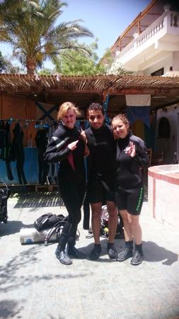 Seven Heaven Hotel: Me, my friend and our great diving-instructor Olesh